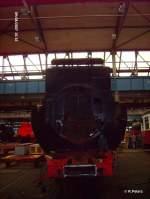 Dampflokwerk Meiningen/31734/stirnseite-vom-tender-der-52-8177 Stirnseite vom Tender der 52 8177 in meiningen. 08.09.07