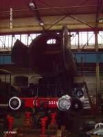 Dampflokwerk Meiningen/31739/frontansicht-der-5519 Frontansicht der 5519