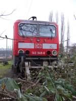 BR 143/53167/frontansicht-von-143-949-6-im-bw Frontansicht von 143 949-6 im BW Düsseldorf-Altstadt. 06.01.06