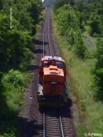arcelor-eko-trans/29835/lok-65-verlaesst-den-werksbahnhof-ziltendorf Lok 65 verlässt den Werksbahnhof Ziltendorf in Richtung Stahl Werk. 20.06.07