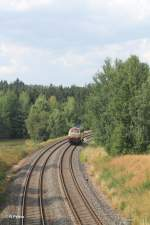 BTE Bahn Touristik Express/284421/welch-ein-glueckstreffer-heute-nachschuss-von Welch ein Glückstreffer heute..... Nachschuss von 217 002 auf dem Weg nach Marktredwitz um ein Kesselzug zu holen, solo bei Oberteich. 06.08.13