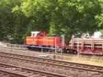 NE Neusser Eisenbahn/29106/lok-ii-zieht-ein-roehrenzug-aus Lok II zieht ein Röhrenzug aus der Abstellgruppe in Düsseldorf-Hamm. 02.08.06